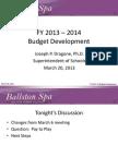 Ballston Spa School Budget Presentation