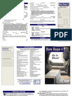 2013 Easter Worship Bulletin