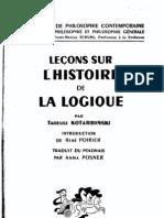 Leçons sur l'histoire de la logique