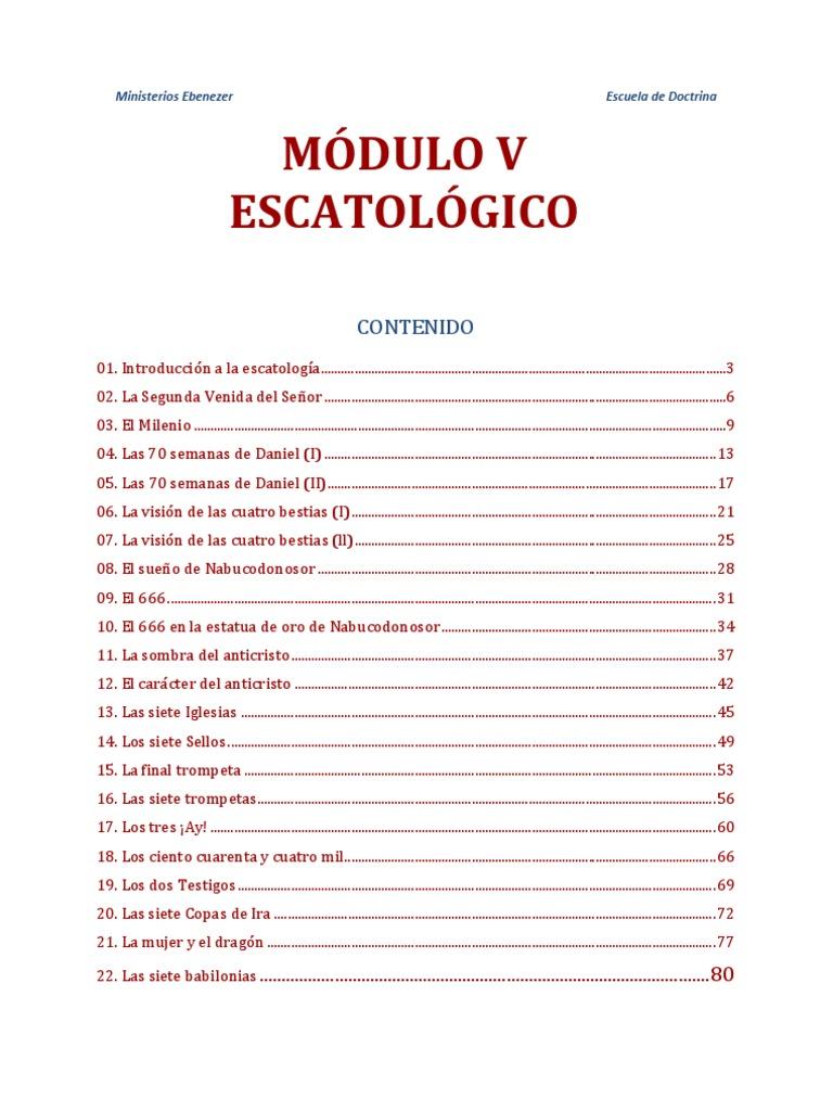 Escatología en la Biblia pdf