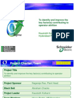 Six Sigma Project - Operators Attrition