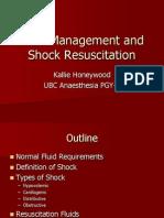 Fluid Management and Shock Resuscitation
