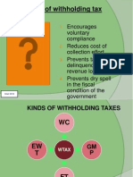 Job order withholding tax