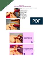 Instrucciones para uñas esculpidas