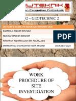 Presentation Work Procedure of Site Investigation
