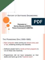 Software Engineering Notlari HISTORY