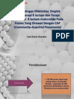 Perbandingan Efektivitas  Empiris Monoterapi ß lactam dan Terapi