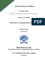 Military Radar Seminar Report_2
