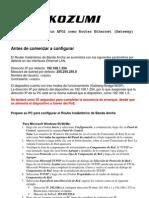 Como Configurar El AFO2 Como Router Ethernet (Gateway)