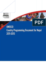 UNESCO Country Programming Document for NEpal 2011 - 2013