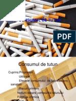consumul de tutun