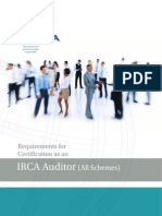 Irca 1000 Auditor Certification Requirements