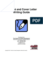 Resume and Cover Letter Guide 2010