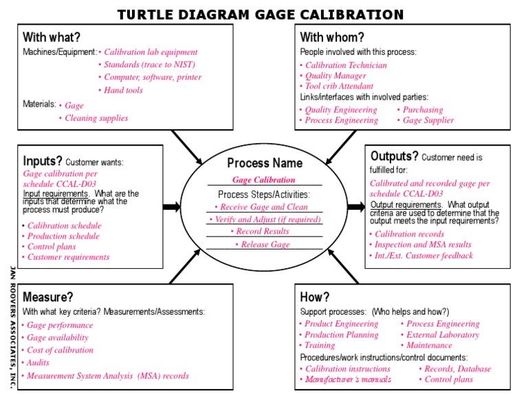 turtle diagram  calibration