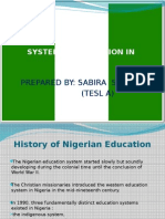 System of Education in Nigeria