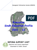 Executive Sindh Education Profile 2011-12