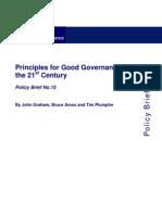 Graham, Principles for Good Governance