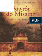 38c7a695696c3 Abraham Verghese - Powrót do Missing