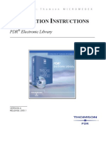 PDR a Installation Instructions