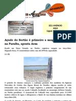 Açude do Sertão é primeiro a sangrar em 2013 na Paraíba, aponta Aesa
