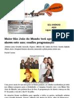 Maior São João do Mundo terá apenas 9 dias de shows este ano; confira programação