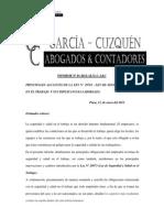 Informe - Ley de Seguridad y Salud en El Trabajo