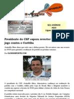 Presidente do CSP espera reverter suspensão do jogo contra o Coritiba