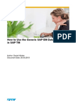 How to Use the Generic Extraction for SAP EM in SAP TM
