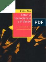 118071697 Esther Diaz Entre Tecnociencia y Deseo