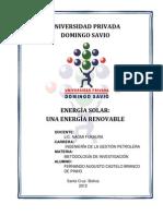 ENERGÍA SOLAR monografia upds
