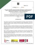Proyecto de Acuerdo 270 de 2011