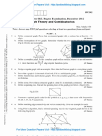 Graph Theory & Combinatorics Dec 2012 NEW