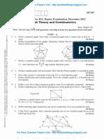 Graph Theory & Combinatorics Dec 2012 NEW