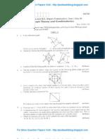 Graph Theory & Combinatorics July 2008