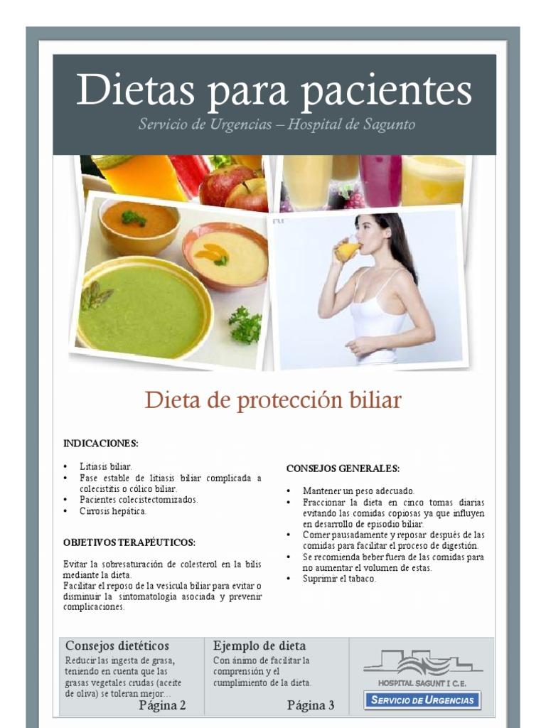 Dieta para pacientes con colecistitis