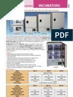 Incubators - Catalog