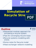 Lecture 4 - Simulation of Recycle Streams