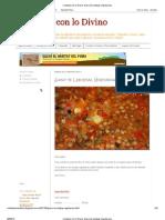 Contacto Con Lo Divino_ Guiso de Lentejas Vegetariano