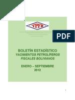 YPFB Boletin Estadístico Enero-Septiembre 2012