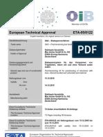 ETA 05 0122 Stabspannverfahren St 950 1050 Engl