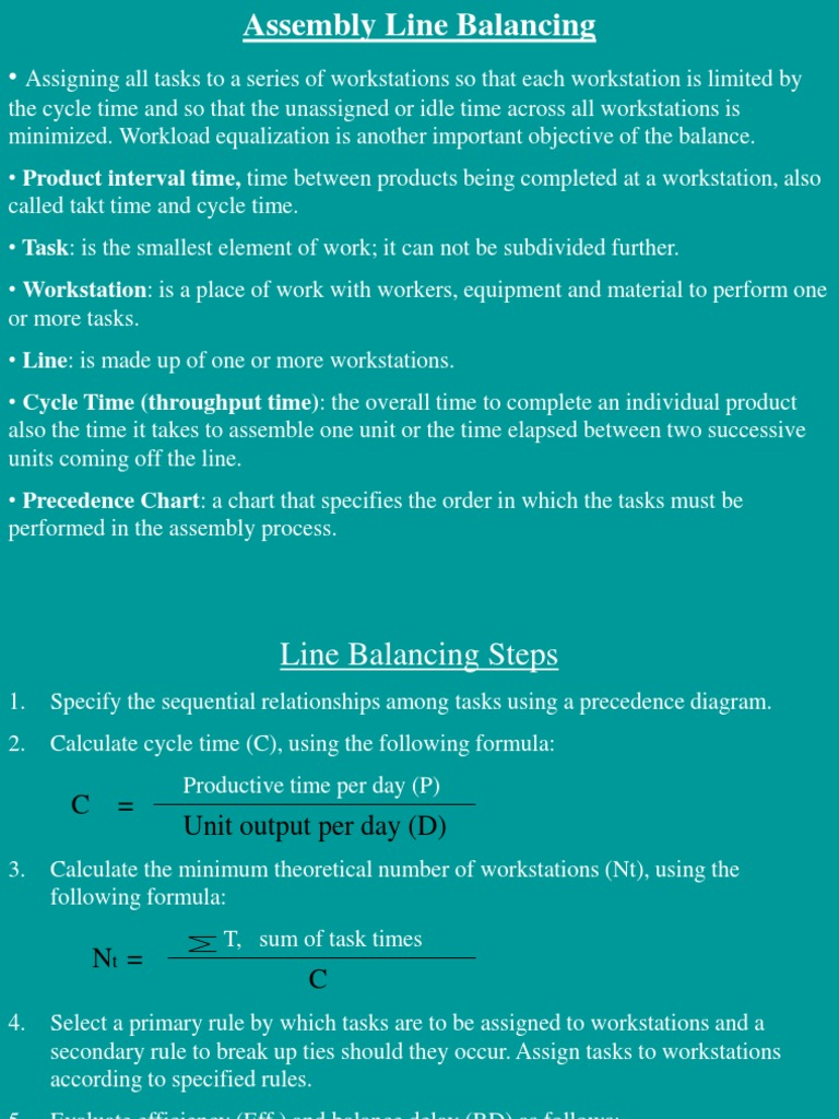 Line balancing technology business pooptronica Choice Image