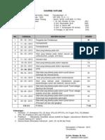 Course Outline Farmakologi 2013