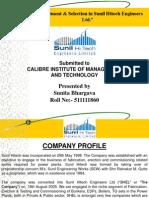 """Recruitment & Selection in Sunil Hitech Engineers Ltd."""