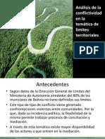 Análisis de conflictividad en temática de límites territoriales - M.Galindo