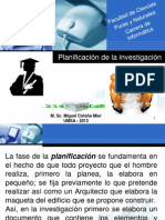 5. Planificacion de La Investigacion