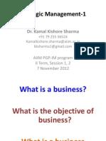 Strategic Management4 - Session 1 & 2