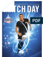 Example of Match Day Guide for Washington Freedom- April 2010 - Includes printer's marks