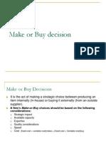 16604193 Make or Buy Decision