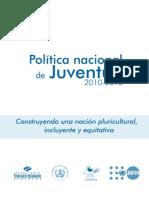 Politica de Juventud 2010 Conjuve-segeplan
