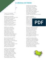 Letra de Las Decimas de Fabian (NB2)-Para Imprimir